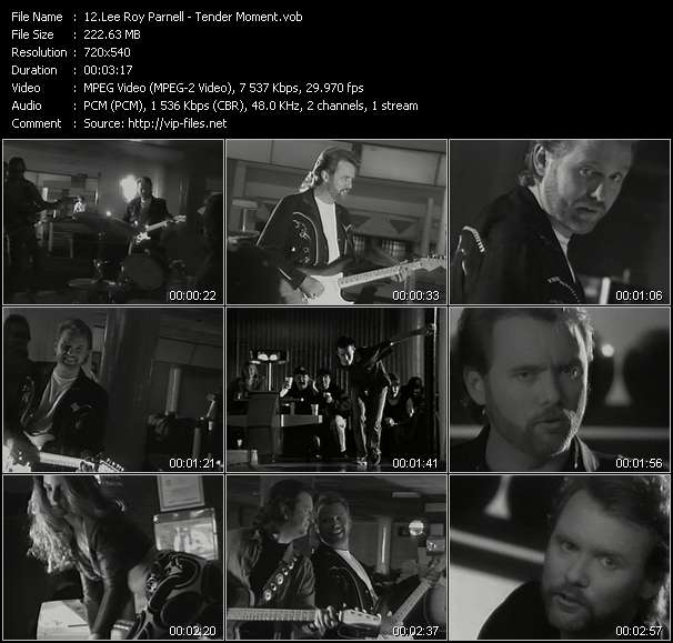 Screenshot of Music Video Lee Roy Parnell - Tender Moment