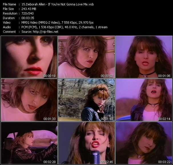 Screenshot of Music Video Deborah Allen - If You're Not Gonna Love Me