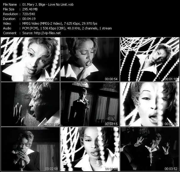 Screenshot of Music Video Mary J. Blige - Love No Limit