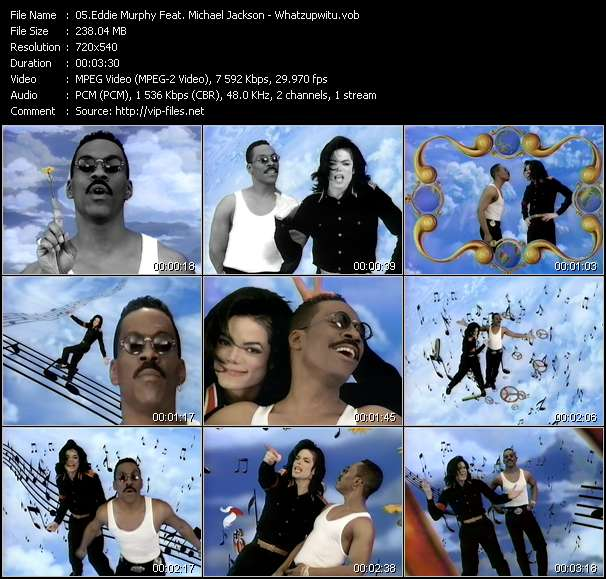Screenshot of Music Video Eddie Murphy Feat. Michael Jackson - Whatzupwitu
