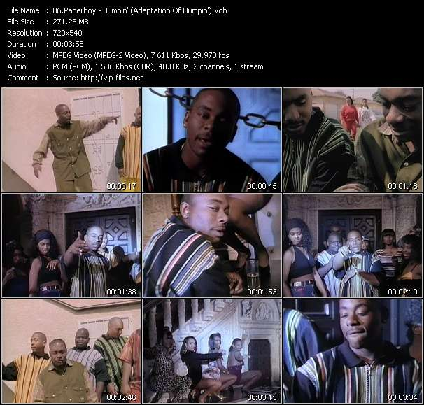 Screenshot of Music Video Paperboy - Bumpin' (Adaptation Of Humpin')