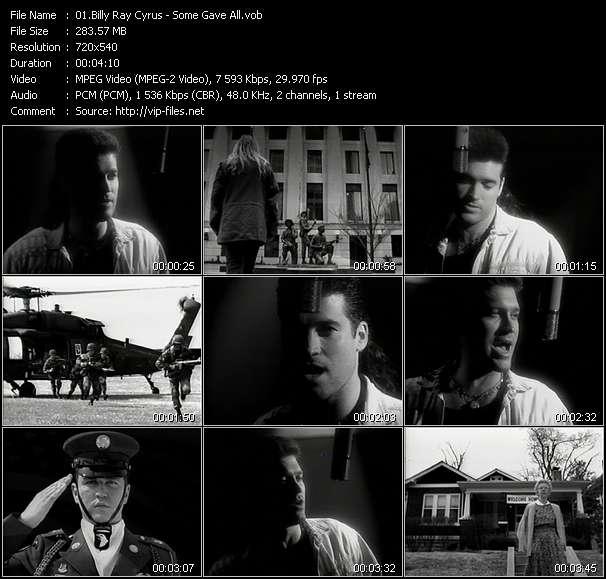 Billy Ray Cyrus video vob