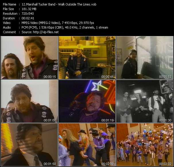 Screenshot of Music Video Marshall Tucker Band - Walk Outside The Lines