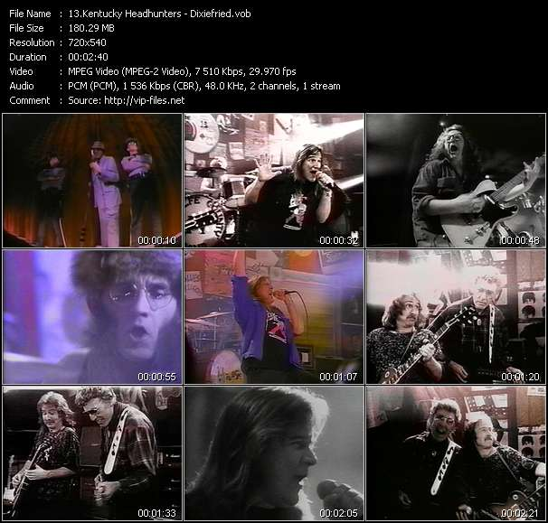 Screenshot of Music Video Kentucky Headhunters - Dixiefried