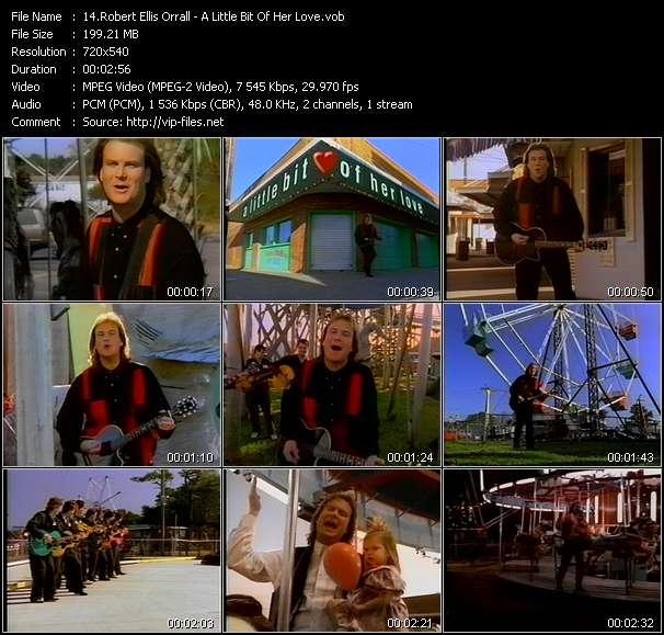 Screenshot of Music Video Robert Ellis Orrall - A Little Bit Of Her Love