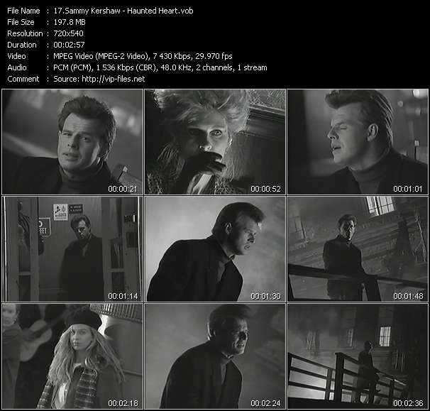 Screenshot of Music Video Sammy Kershaw - Haunted Heart