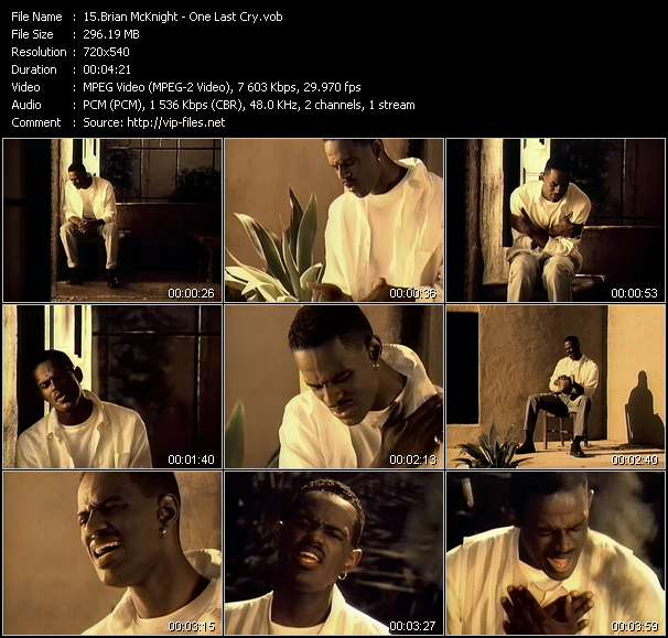 Screenshot of Music Video Brian McKnight - One Last Cry