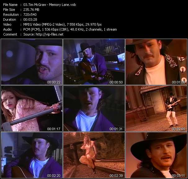 Tim McGraw video vob