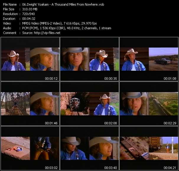 Screenshot of Music Video Dwight Yoakam - A Thousand Miles From Nowhere