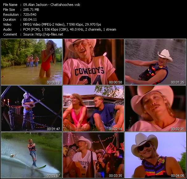 Screenshot of Music Video Alan Jackson - Chattahoochee