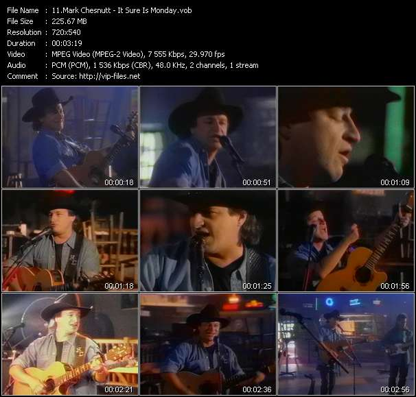 Screenshot of Music Video Mark Chesnutt - It Sure Is Monday