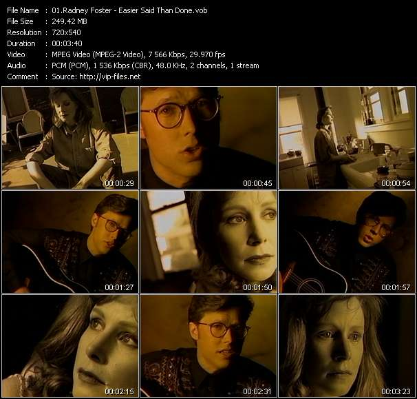 Screenshot of Music Video Radney Foster - Easier Said Than Done
