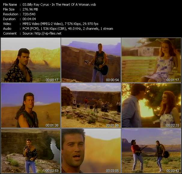 Screenshot of Music Video Billy Ray Cyrus - In The Heart Of A Woman