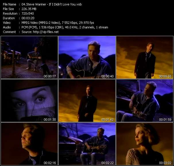 Screenshot of Music Video Steve Wariner - If I Didn't Love You