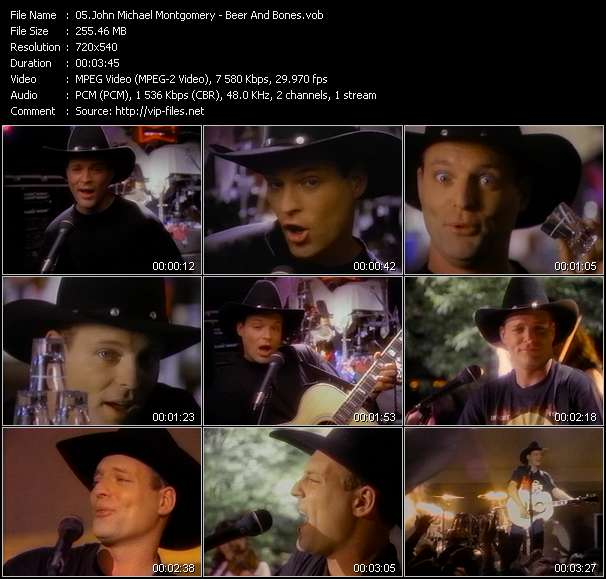 Screenshot of Music Video John Michael Montgomery - Beer And Bones