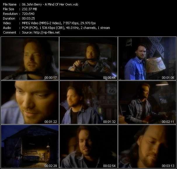 Screenshot of Music Video John Berry - A Mind Of Her Own
