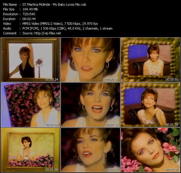 Screenshot of Music Video Martina McBride - My Baby Loves Me