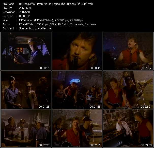Screenshot of Music Video Joe Diffie - Prop Me Up Beside The Jukebox (If I Die)