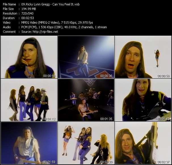 Screenshot of Music Video Ricky Lynn Gregg - Can You Feel It