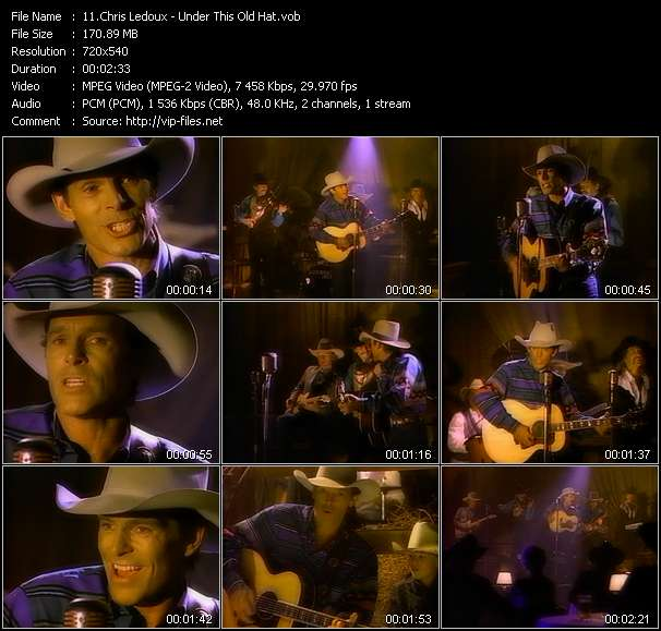 Screenshot of Music Video Chris Ledoux - Under This Old Hat