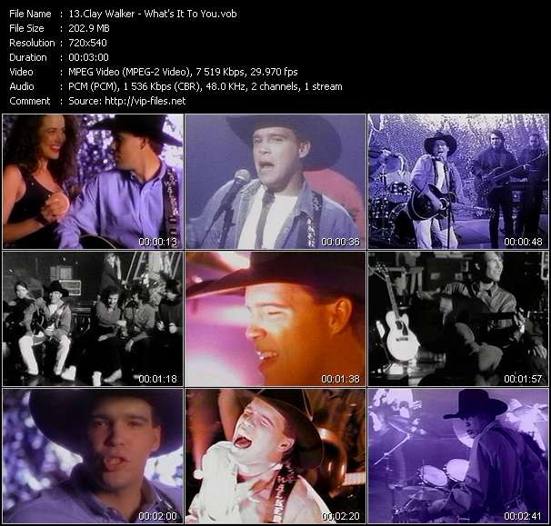 Screenshot of Music Video Clay Walker - What's It To You