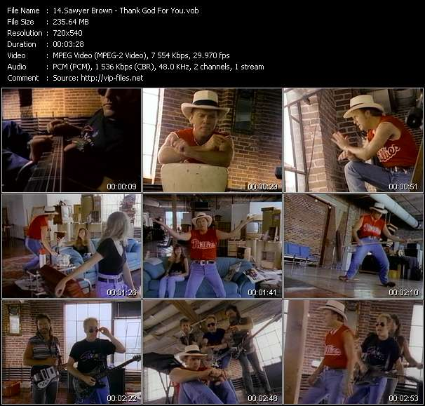 Screenshot of Music Video Sawyer Brown - Thank God For You