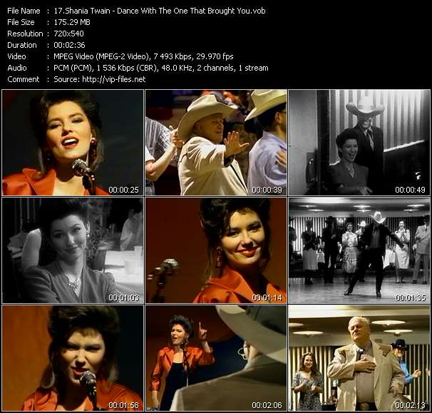Screenshot of Music Video Shania Twain - Dance With The One That Brought You