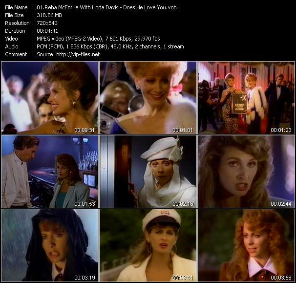 Reba McEntire With Linda Davis video vob