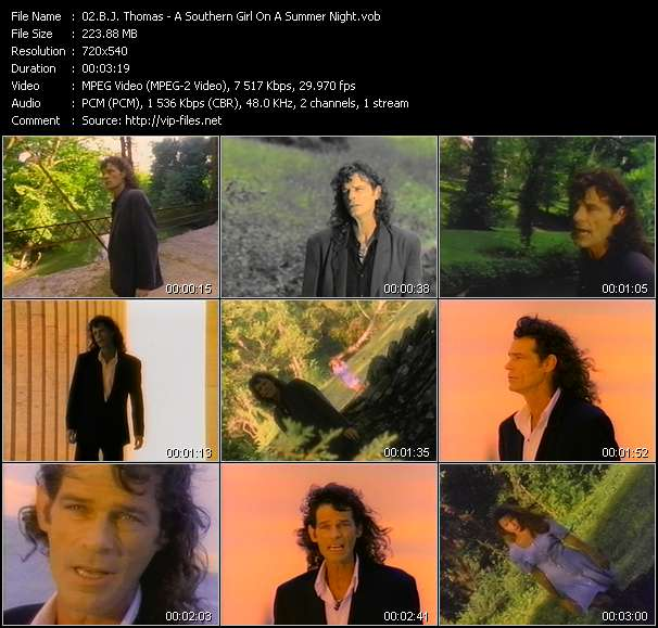 B.J. Thomas video vob