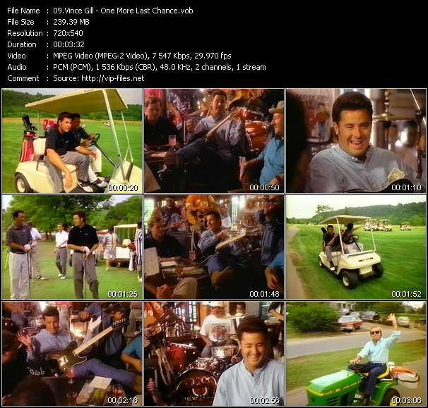 Screenshot of Music Video Vince Gill - One More Last Chance