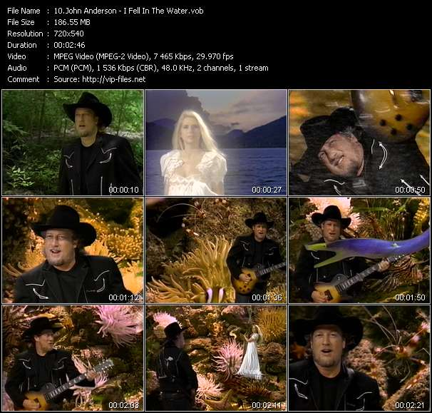 Screenshot of Music Video John Anderson - I Fell In The Water