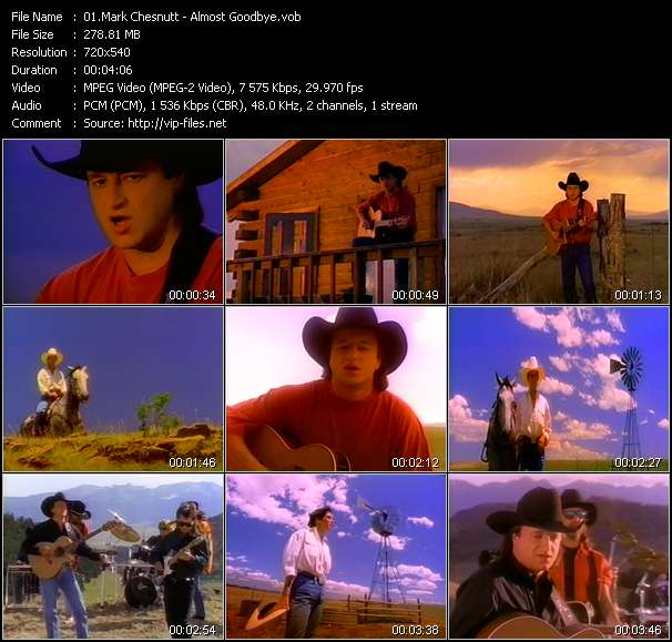 Screenshot of Music Video Mark Chesnutt - Almost Goodbye
