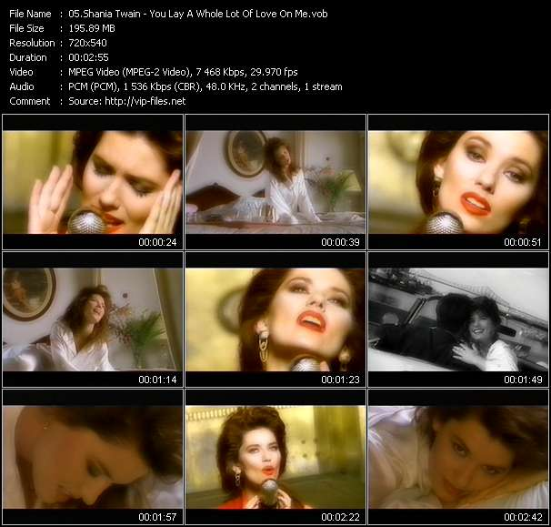 Screenshot of Music Video Shania Twain - You Lay A Whole Lot Of Love On Me