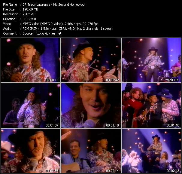 Screenshot of Music Video Tracy Lawrence - My Second Home