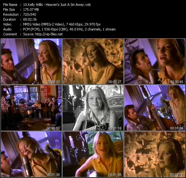 Screenshot of Music Video Kelly Willis - Heaven's Just A Sin Away