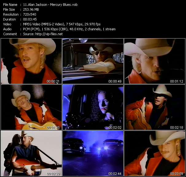 Screenshot of Music Video Alan Jackson - Mercury Blues