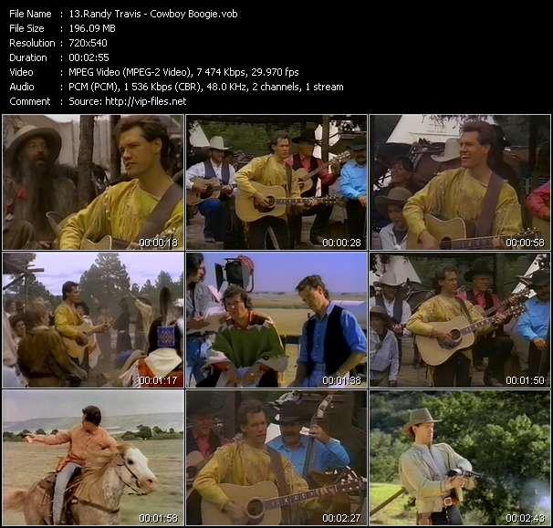 Screenshot of Music Video Randy Travis - Cowboy Boogie
