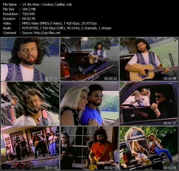 Screenshot of Music Video Jim Wise - Cowboy Cadillac