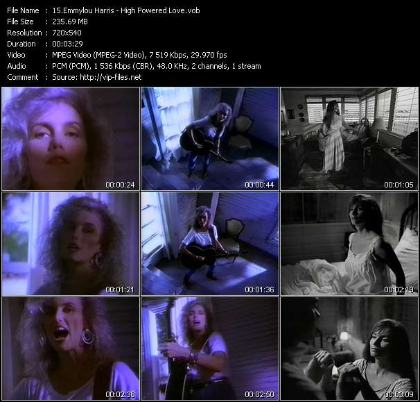 Screenshot of Music Video Emmylou Harris - High Powered Love