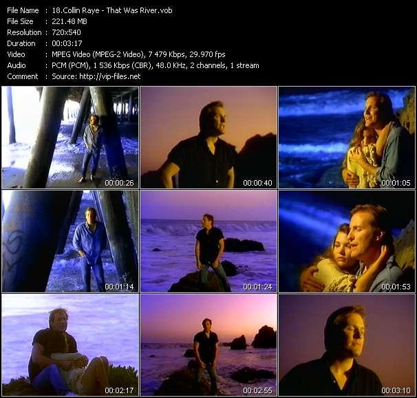 Screenshot of Music Video Collin Raye - That Was River