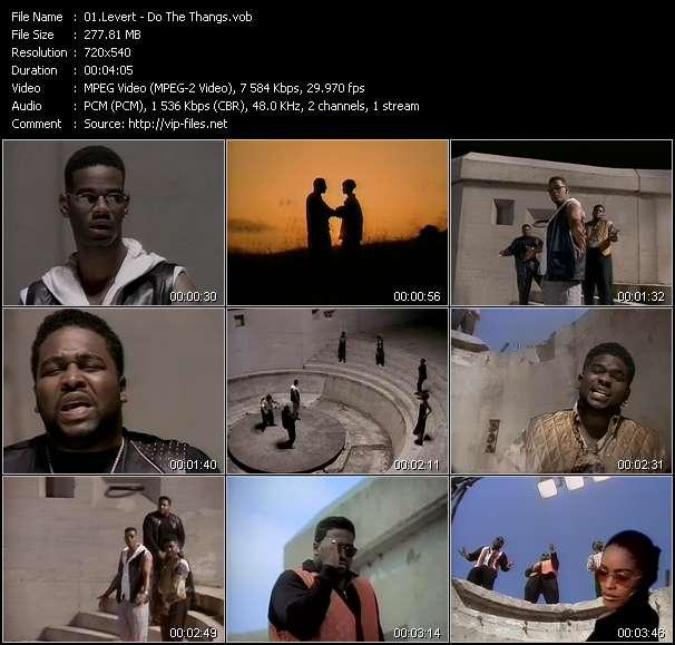 Screenshot of Music Video Levert - Do The Thangs