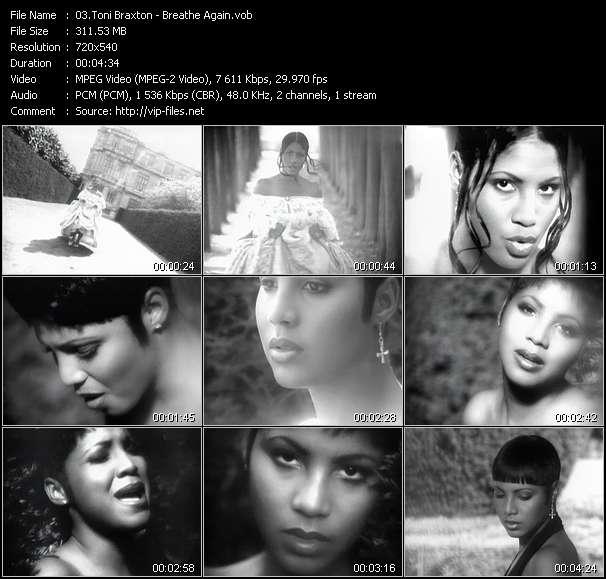 Screenshot of Music Video Toni Braxton - Breathe Again