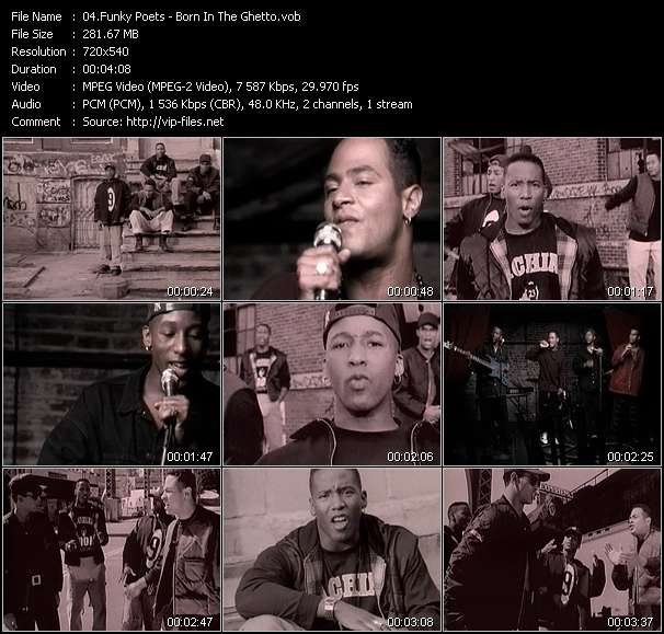 Screenshot of Music Video Funky Poets - Born In The Ghetto