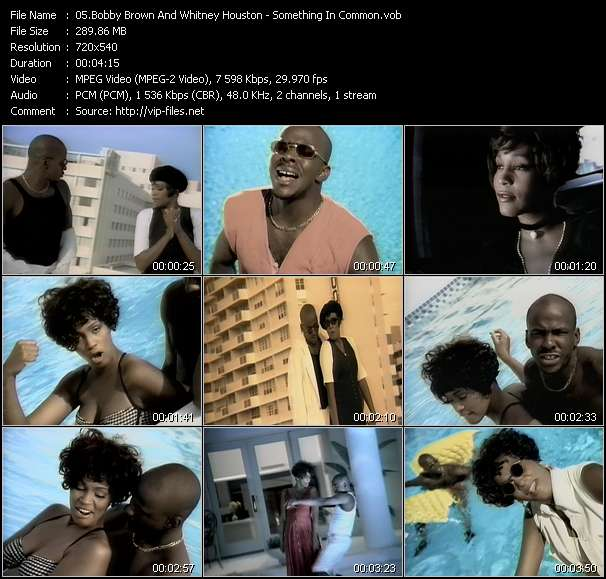 Screenshot of Music Video Bobby Brown And Whitney Houston - Something In Common