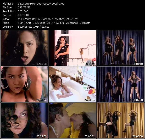 Screenshot of Music Video Lisette Melendez - Goody Goody
