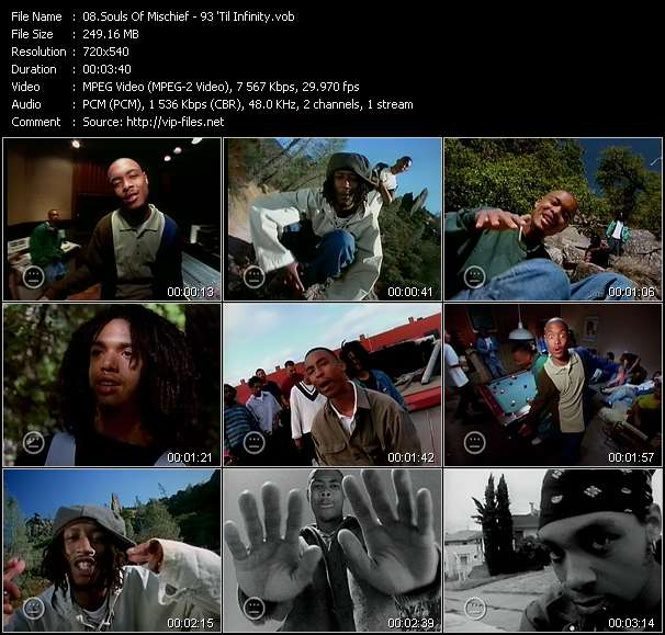 Screenshot of Music Video Souls Of Mischief - 93 'Til Infinity
