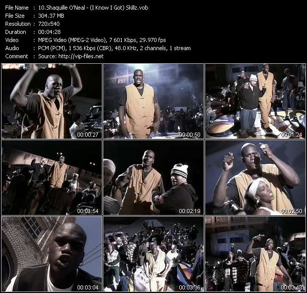 Screenshot of Music Video Shaquille O'Neal - (I Know I Got) Skillz