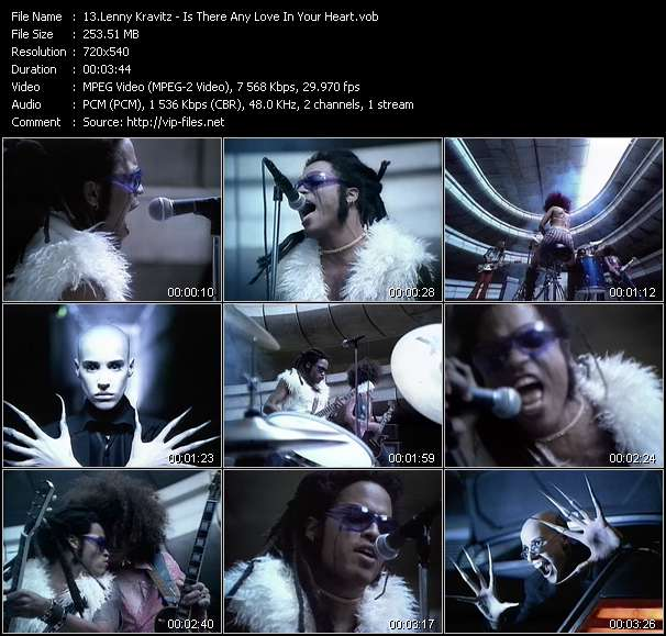 Screenshot of Music Video Lenny Kravitz - Is There Any Love In Your Heart