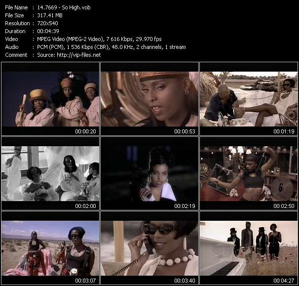 Screenshot of Music Video 7669 - So High