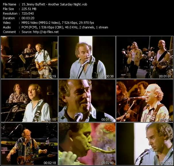 Screenshot of Music Video Jimmy Buffett - Another Saturday Night
